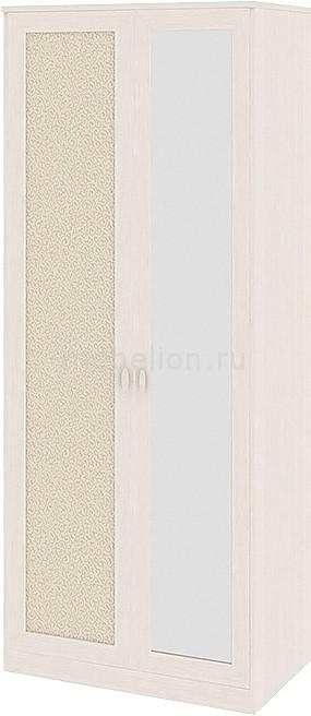 Шкаф платяной Сакура СМ-183.07.004 дуб белфорт/дуб белфорт/кожа Лара светлая
