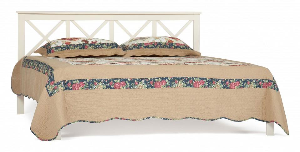 Кровать двуспальная Francesca  треугольный пуфик