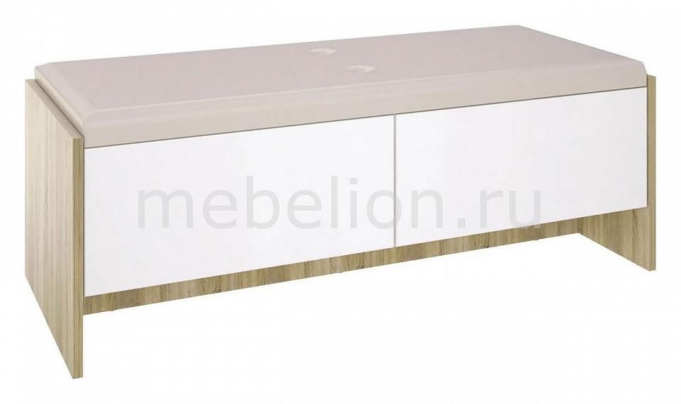 Банкетка Ирма СТЛ.143.04 дуб сонома/белый глянец  декорирование тумбочки