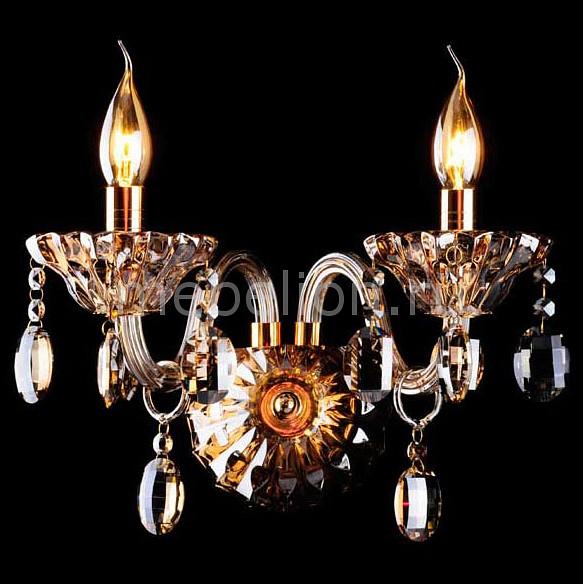 Бра Eurosvet 3162/2 золото/тонированный хрусталь Strotskis женские сапоги zara 2014 3162 301