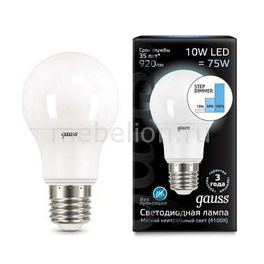 Лампа светодиодная Gauss 1025 E27 180-240В 10Вт 4100K 102502210-S
