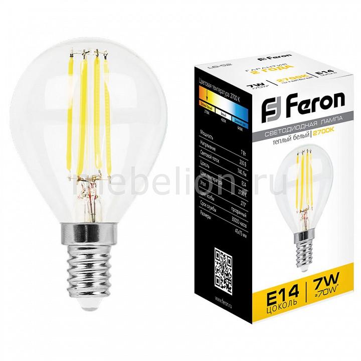 Лампа светодиодная [поставляется по 10 штук] Feron Лампа светодиодная LB-52 E14 7Вт 220В 2700 K 25874 [поставляется по 10 штук] лампа светодиодная gauss none gu5 3 7вт 220в 2700 k 101505107