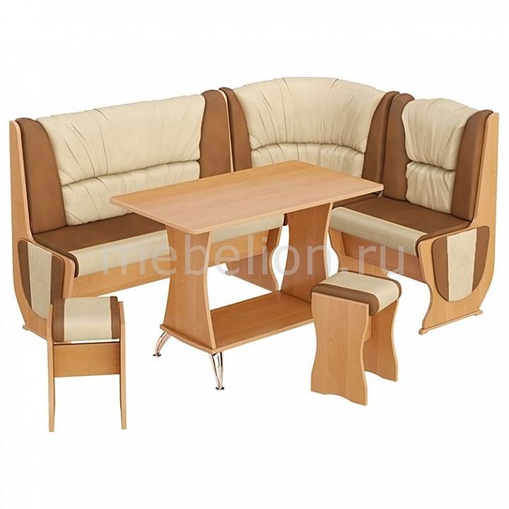 Набор кухонный Мебель Трия Уголок кухонный Уют-5 Люкс ольха/бук/коричневый люк evecs d2540 ceramo