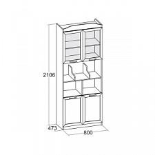 Шкаф-витрина Аврора 504.060 клен канадский