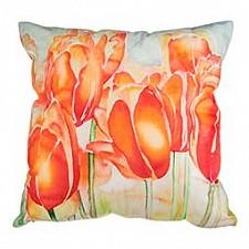 Подушка декоративная (45х45 см) Цветы 703-694-38