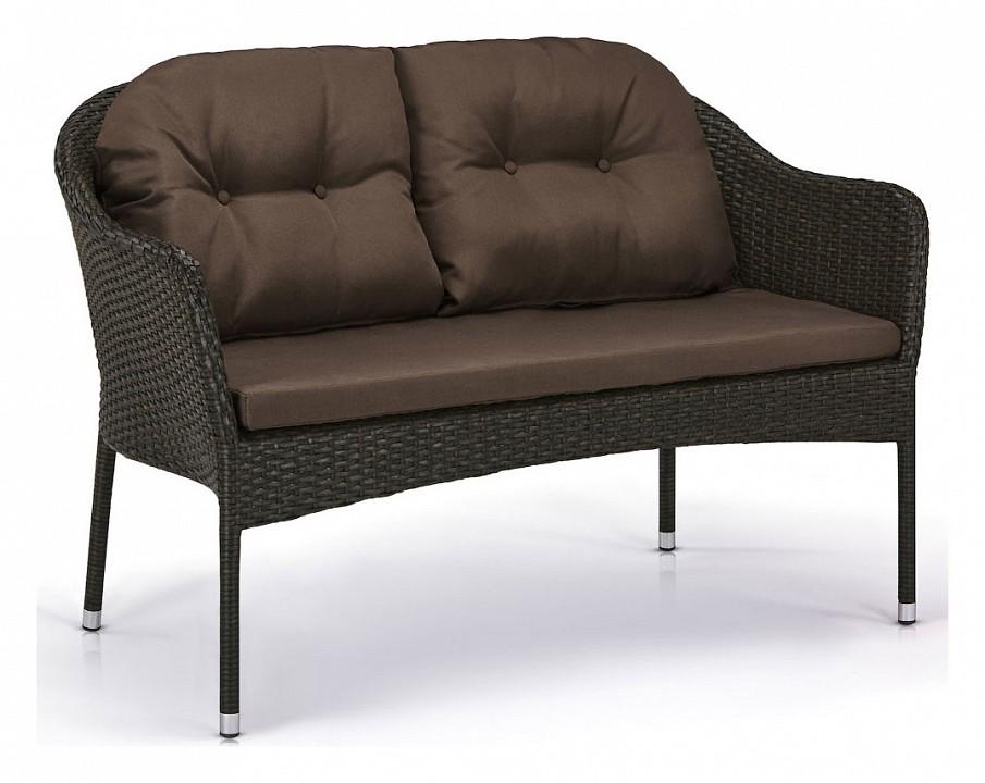 Диван Afina S54A-W53 Brown комплект мебели из ротанга афина мебель t282bnt w53 y90c w51 2pcs