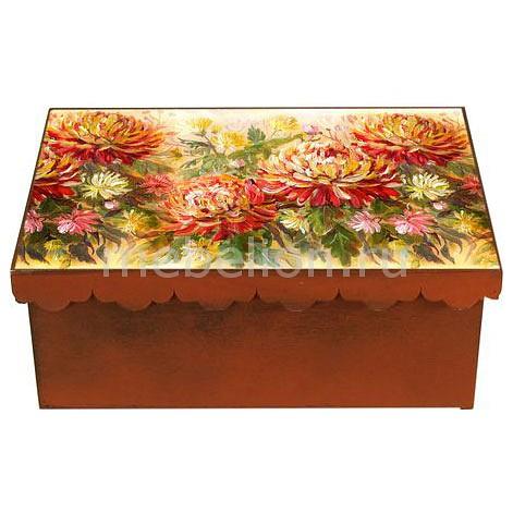 Шкатулка декоративная (26х18х13 см) Хризантема 1826-5