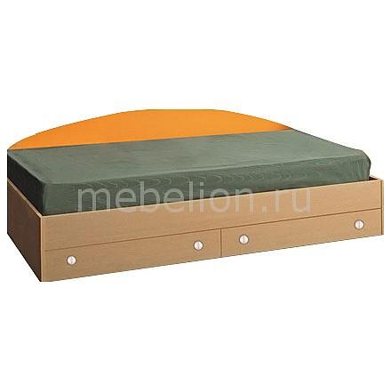 Кровать Тони-2 4210227 дуб линдберг/оранжевый
