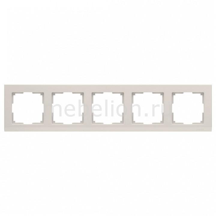 Рамка на 5 постов Werkel Stark WL04-Frame-05-ivory werkel рамка stark на 5 постов черный werkel wl04 frame 05 silver black 4690389059353