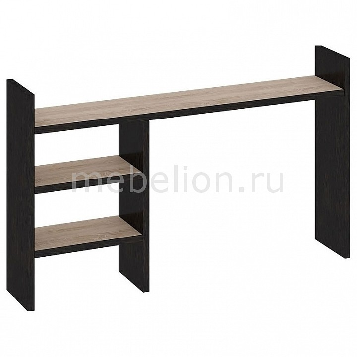 Надстройка для стола Мебель Трия Надстройка Мики ПМ-155.14 дуб сонома/венге цаво мебель трия стол компьютерный студент класс м дуб сонома венге цавоtri 42455tri 42455
