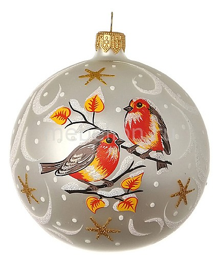 Елочный шар (9 см) Птички 860-298