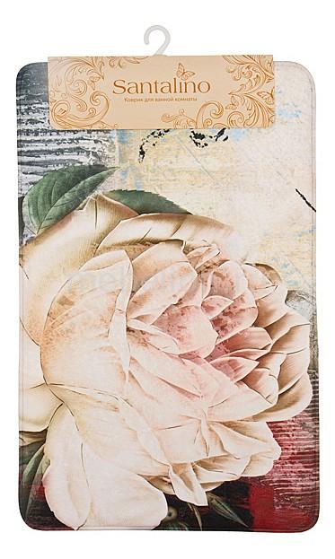 Коврик для ванной АРТИ-М (50х80 см) Флора полотенце для кухни арти м джинсовое сердце