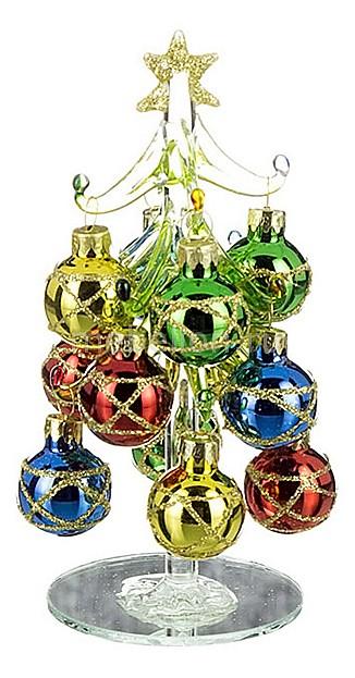 Ель новогодняя с елочными шарами АРТИ-М (14.5 см) ART 594-034 гирлянда новогодняя eurohouse цвет желтый красный зеленый длина 322 см