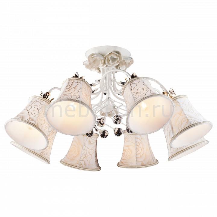 Люстра на штанге Bellis A2819PL-8WG Arte Lamp Артикул - AR_A2819PL-8WG, Бренд - Arte Lamp (Италия), Серия - Bellis, Гарантия, месяцы - 24, Рекомендуемые помещения - Гостиная, Кабинет, Спальня, Высота, мм - 720, Диаметр, мм - 360, Цвет плафонов и подвесок - белый с рисунком, неокрашенный, Цвет арматуры - белый, золото, Тип поверхности плафонов и подвесок - матовый, прозрачный, Тип поверхности арматуры - матовый, Материал плафонов и подвесок - текстиль, хрусталь, Материал арматуры - металл, Лампы - компактная люминесцентная [КЛЛ] ИЛИнакаливания ИЛИсветодиодная [LED], цоколь E14; 220 В; 60 Вт, , Класс электробезопасности - I, Общая мощность, Вт - 480, Лампы в комплекте - отсутствуют, Общее кол-во ламп - 8, Количество плафонов - 8, Возможность подключения диммера - можно, если установить лампу накаливания, Степень пылевлагозащиты, IP - 20, Диапазон рабочих температур - комнатная температура