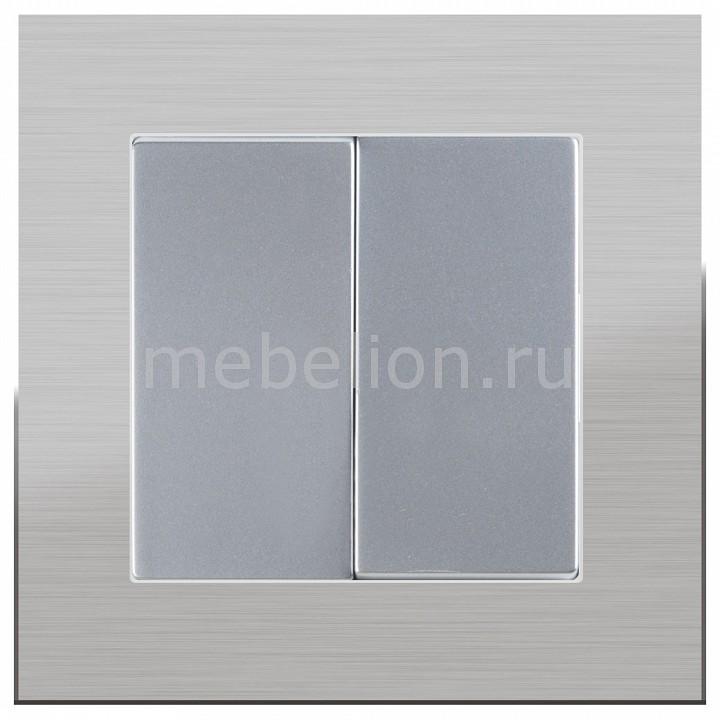 Выключатель двухклавишный Werkel без рамки Aluminium(Серебряный) WL06-SW-2G-LED+WL06-SW-2G  werkel выключатель двухклавишный серебряный wl06 sw 2g 4690389053832