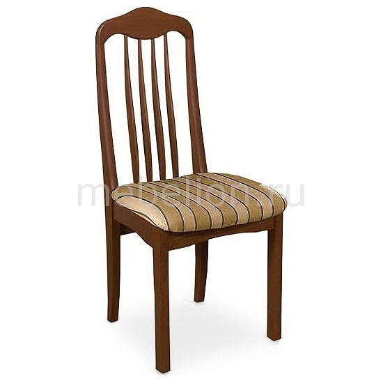 Стул мягкий Мебель Трия Стул Элегия Т1 СМ-68.4.001 орех/бежевый в коричневую полоску мебельтрия стул гамма т1