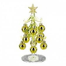 Ель новогодняя с елочными шарами (15 см) ART 594-002