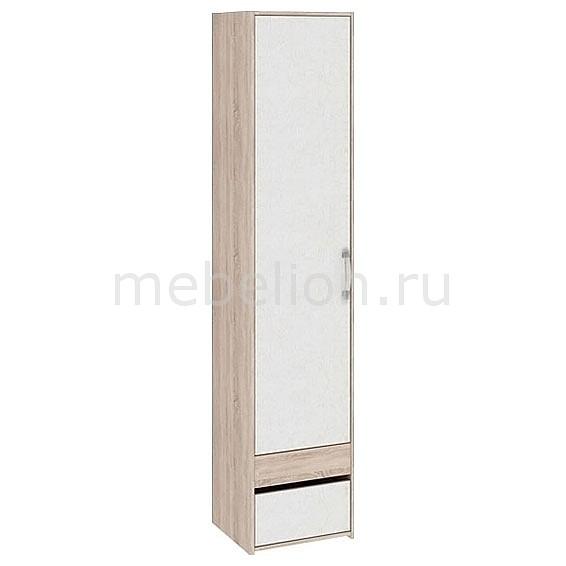 Шкаф для белья Атлас ПМ-186.12 дуб сонома/хаотичные линии