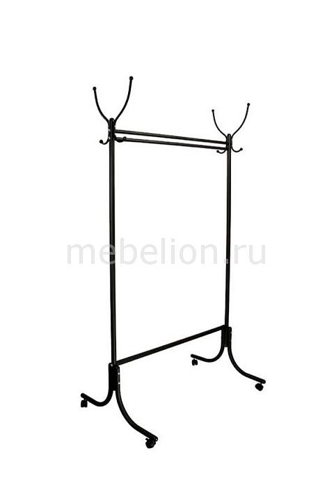 Вешалка напольная Мебелик Вешалка гардеробная М-13 черный (с колесиками) цена и фото