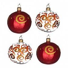 Набор елочных шаров АРТИ-М Набор из 4 елочных шаров (7.5 см) Завитки 860-504