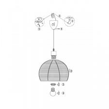 Подвесной светильник Globo 15953 Matous