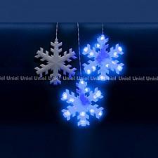 Занавес световой (2.7x3 м) Uniel Снежинки 11128