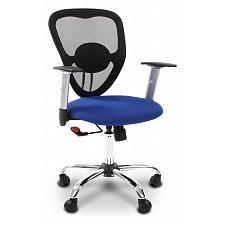 Кресло компьютерное Chairman 451 синий, черный/хром, черный