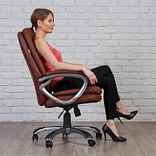 Кресло для руководителя Chairman 668 коричневый/серый, черный