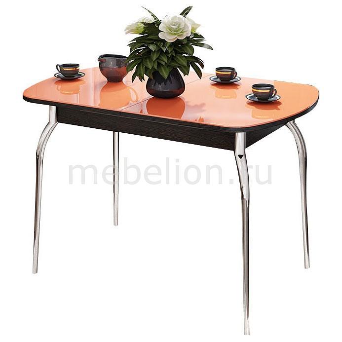 Стол обеденный Мебель Трия Милан ром/венге цаво/оранжевый стол обеденный мебель трия милан см 203 23 15