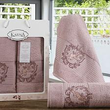 Набор полотенец для ванной Karna Набор из 2 полотенец для ванной CLARIS