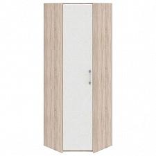 Шкаф платяной угловой Атлас ПМ-186.14 дуб сонома/хаотичные линии