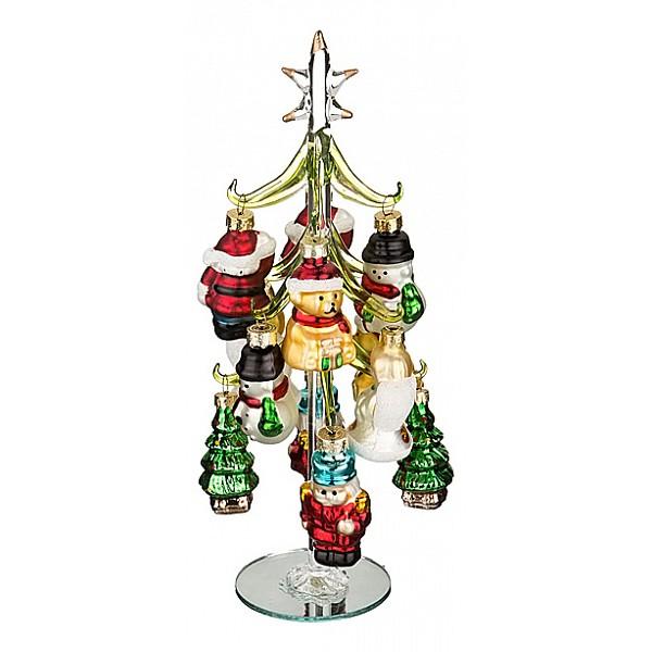 Ель новогодняя с елочными игрушками АРТИ-М