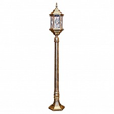Наземный высокий светильник Витраж с ромбом 11348