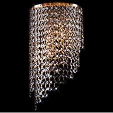Накладной светильник Eurosvet 3102/2 золото/прозрачный хрусталь Strotskis 3102