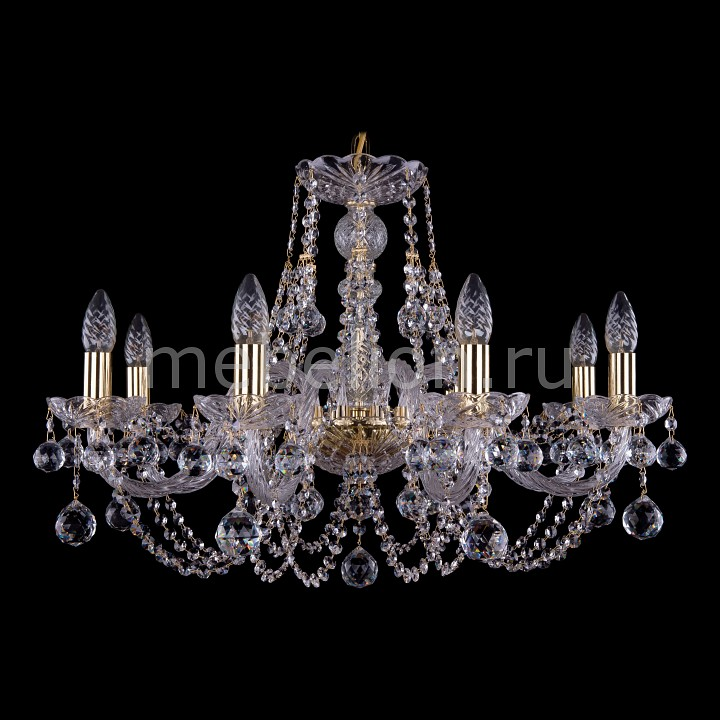Подвесная люстра Bohemia Ivele Crystal 1406/8/240/G/Balls 1406