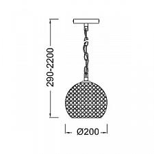Подвесной светильник Mantra 4600 Crystal 3