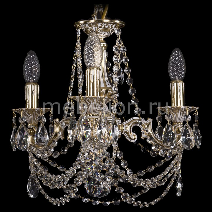 Подвесная люстра Bohemia Ivele Crystal 1707/3/125/C/GW 1707