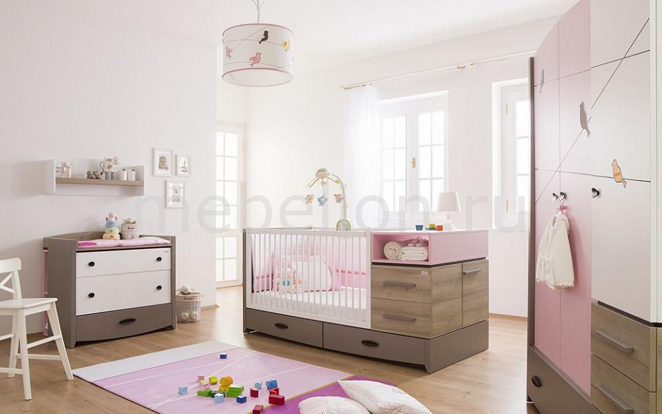 Гарнитур для детской Pink Birdy серый/розовый