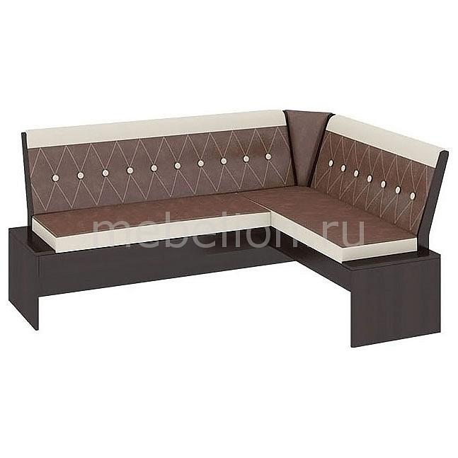 Уголок кухонный Мебель Трия Диван Кантри Т1 исп.1 венге/темно-коричневый мебель трия табурет кантри т1 венге темно коричневый