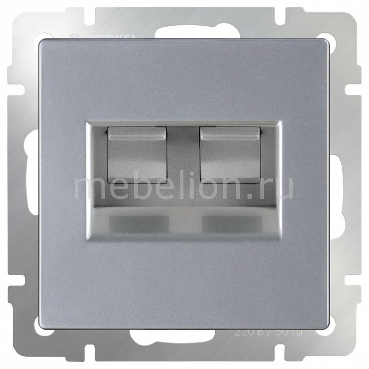 Розетка двойная Ethernet RJ-45 без рамки Werkel Серебряный WL06-RJ45+RJ45 network rj45