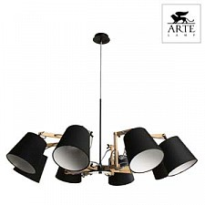 Подвесная люстра Arte Lamp A5700LM-8BK Pinocchio