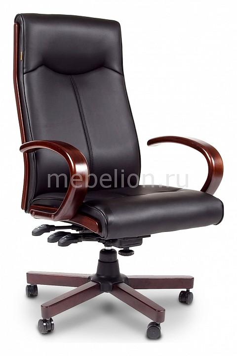 офисный стул chairman 659 terra черный матовый темный орех Кресло для руководителя Chairman Chairman 411 черный/орех темный