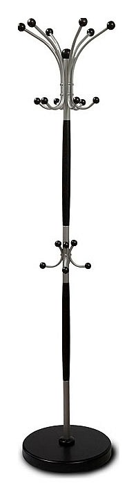 Вешалка напольная Мебелик Вешалка-стойка Декарт Д-1 венге/металлик