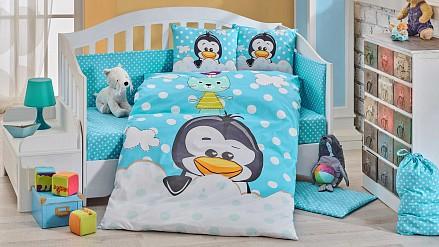 Белье в кроватку для новорожденного PENGUIN HT_1501001716