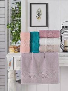 Набор из 6 банных полотенец Hazal