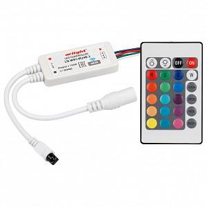 Контроллер-регулятор цвета RGB с пультом ДУ LN-WIFI-IR24B-2 (12-24V, 72-144W, ПДУ 24кн, RGB)