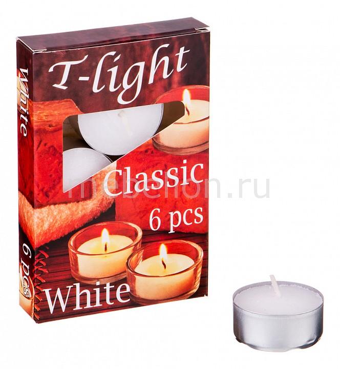 Набор из 6 свечей декоративных АРТИ-М (4x2 см) Classic 348-649 свеча декоративная арти м набор из 10 свечей декоративных 348 376