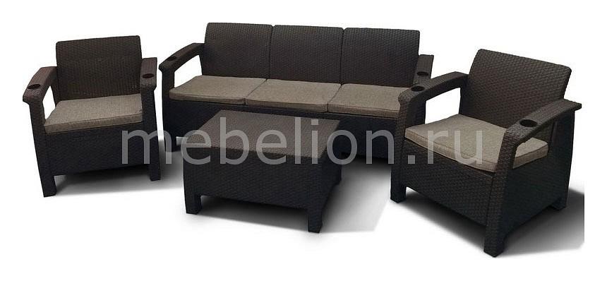 Набор уличный Afina Yalta M6172 Brown afina стол иск ротанг t 252a