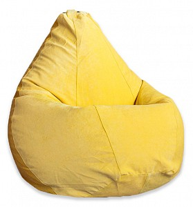 Кресло-мешок Желтый Микровельвет L