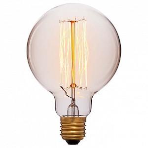 Лампа накаливания G95 E27 240В 60Вт 2200K 052-290